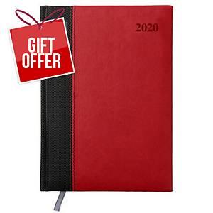 Luxury WTV Diary A5 Appt Red/Black