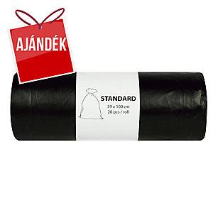 Alufix szemeteszsákok 22 mik., 80 l fekete, 20 db/tekercs