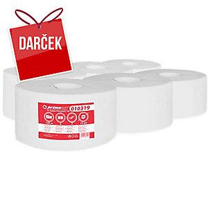 Toaletný papier Jumbo mini, 2-vrstvový, biely, Ø 19 cm, 6 ks