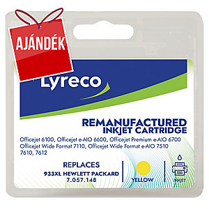Lyreco kompatibilis nyomtatópatron HP933XL számára sárga 825 oldal