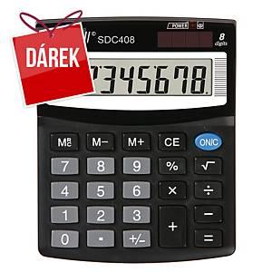 Stolní kalkulačka Rebell SDC408, 8-místný displej, černá