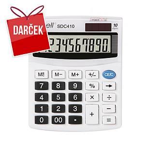 Stolová kalkulačka Rebell SDC410, 10-miestny displej, biela