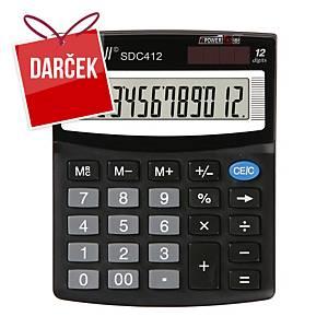Stolová kalkulačka Rebell SDC412, 12-miestny displej, čierna