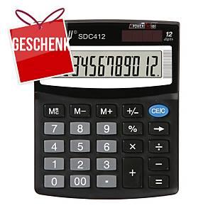 Rebell SDC412 Tischrechner, 12-stelliges Display, schwarz