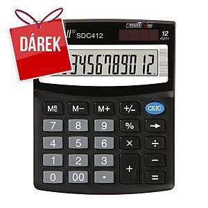 Stolní kalkulačka Rebell SDC412, 12-místný displej, černá