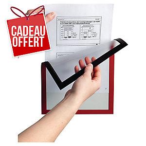Paquet de 5 cadres d affichage magnétiques Duraframe Durable A4 rouge