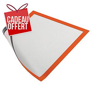 Paquet de 5 cadres d affichage magnétiques Duraframe Durable A4 orange