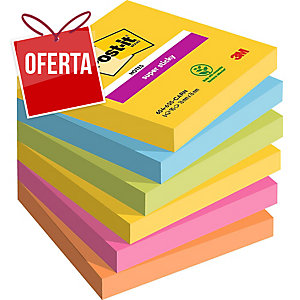 Pack de 6 Blocos notas adesivas Post-it Super Sticky rio de Janeiro 76x76 mm