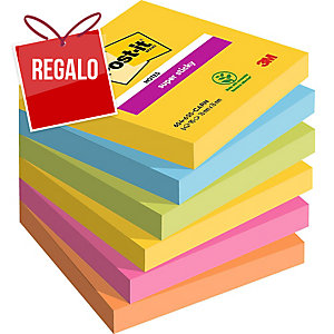 Pack de 6 blocks de 90 notas adhesivas Post-it Super Sticky - colores Río