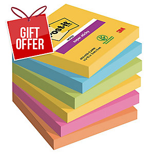 Post-It Super Sticky Notes 76X76mm Rio De Janeiro Colour Pk6