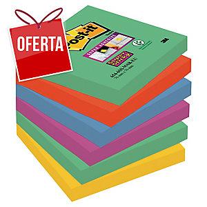 Pack de 6 Blocos notas adesivas Post-it Super Sticky Marrakesh 76x76mm