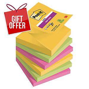 Post-It Super Sticky  Z-Notes 76X76mm Rio Colour Pk6