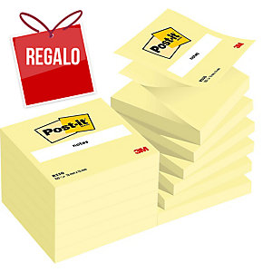 Pack 12 blocks notas adhesivas Post-it Super Sticky Z-notes amarillo 76x76mm