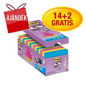 3M Post-it® R330 Super sticky öntapadó z-tömb 76x76mm, színes, 16 tömb/90 lap