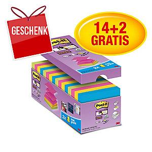 3M Post-it® R330 Super Sticky z-Blöcke 76x76mm, bunt, Pack 16 Blöcke/90 Blatt