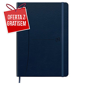 Notatnik Oxford Signature, A5, linia, 80 kartek, niebieski