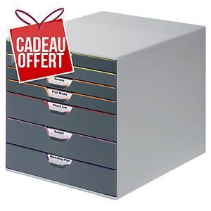 Module de classement Durable Varicolor - 7 tiroirs - coloris assortis