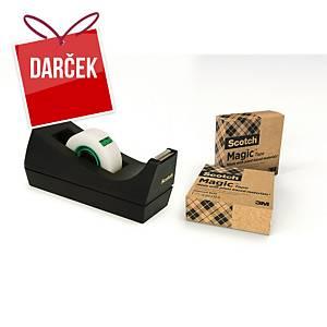 Stolový zásobník Scotch C38 + 3 neviditeľné pásky Scotch Magic