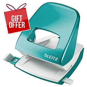 LEITZ 5008 WOW 2-HOLE PUNCH 30SHT I.BLU