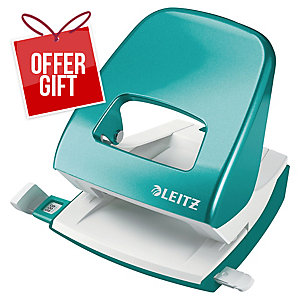 Leitz WOW Hole Punch 2-Hole Ice Blue