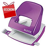 Locher Leitz WOW 5008, Bürolocher, 30 Blatt, violett Metallic