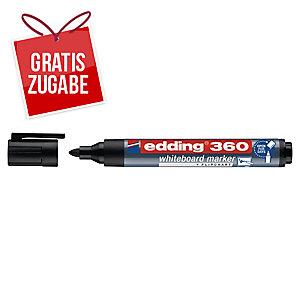 Boardmarker edding 360, Rundspitze, Strichstärke: 1,5-3mm, schwarz