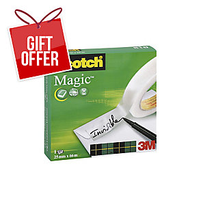 Scotch Magic Sticky Tape - 25mm X 66M Roll
