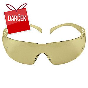 3M SecureFit SF203AF Ochranné okuliare, jantárovo žlté