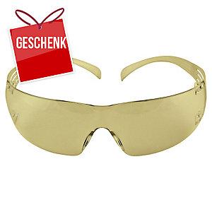 3M SecureFit SF201AF Schutzbrille, gelb