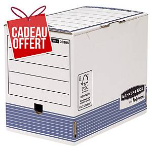 Boîte d archives Bankers Box System A4+ - automatique - dos 20 cm - par 10