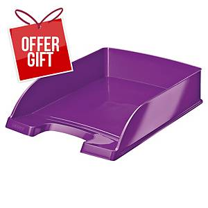 Leitz Wow 5226 A4 Letter Tray Purple