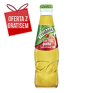 Sok jabłkowy TYMBARK, zgrzewka 15 butelek x 0,2 l