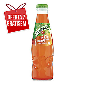 Sok czerwony grejpfrut TYMBARK, zgrzewka 15 butelek x 0,2 l