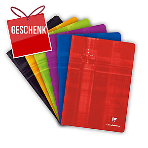 Notizheft Clairefontaine A4, 5 mm kariert, 48 Blatt, assortiert