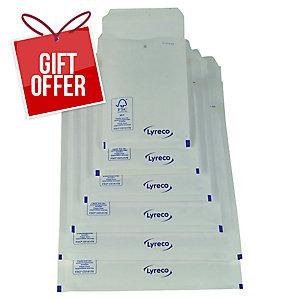 LYRECO BUBBLE ENVELOPE 215X150MM 75G WHITE - PACK OF100