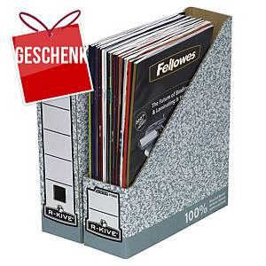 Stehsammler Fellowes R-Kive Magazin A4 aus Wellpappe grau/weiß