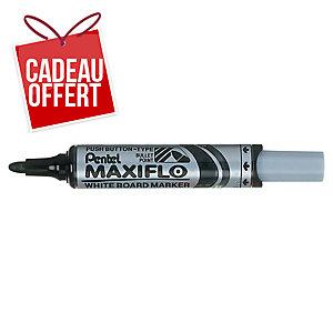 Marqueur Pentel Maxiflo - effaçable à sec - pointe ogive large - noir
