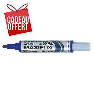 Marqueur tableau blanc Pentel Maxiflo - pointe ogive large - bleu