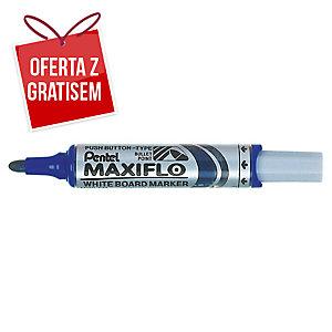 Marker suchościeralny PENTEL Maxiflo MWL5M, okrągła końcówka, niebieski