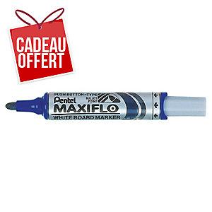 Marqueur Pentel Maxiflo - effaçable à sec - pointe ogive large - bleu
