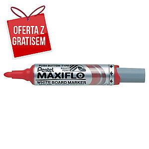 Marker suchościeralny PENTEL Maxiflo MWL5M, okrągła końcówka, czerwony