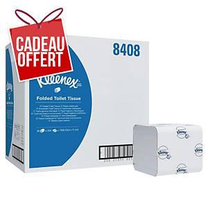 Papier toilette plié Kleenex Ultra - 8408 - 2 plis - 36 paquets