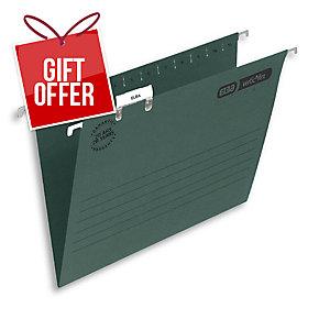 ELBA VERTICFILE ULTIMATE SUSPENSION FILES V BASE F/SCAP GREEN - BOX OF 50