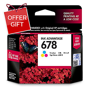 HP 678 CZ108AA ORIGINAL INKJET CARTRIDGE TRI-COLOURS