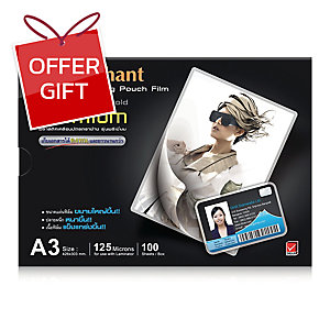 ELEPHANT LAMINATING POUCH A3 305X426MM 125 MI - PACK OF 100
