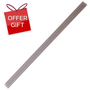ORCA 109 Slide Lock Binder 5mm Clear White - Pack of 12