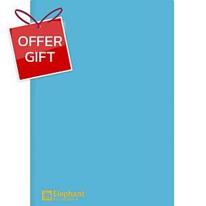 ELEPHANT 405 Plastic Folder A4 Blue - Pack of 12