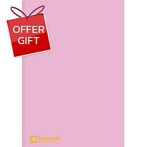 ELEPHANT 405 Plastic Folder A4 Pink - Pack of 12