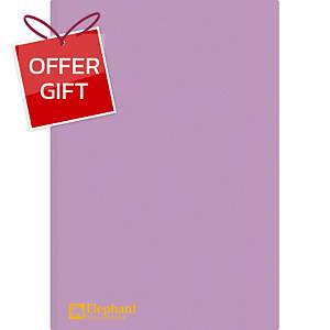 ELEPHANT 405 Plastic Folder A4 Purple - Pack of 12