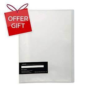E-FILE 710A DISPLAY BOOK NON-REFILLABLE A4 20 POCKETS CLEAR